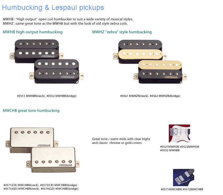wilkinson humbucker les paul pickups wilkinson humbucker les rh guitar parts depot com