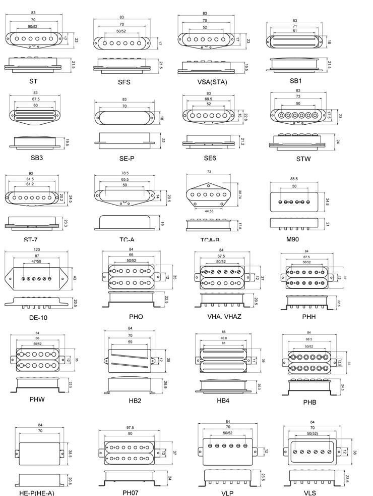 200732785739497 all pickups mounting drawing all pickups mounting drawing wilkinson humbucker pickup wiring diagram at n-0.co