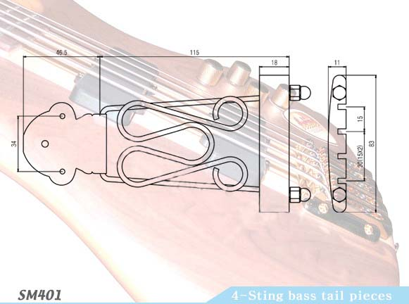 4 strings tailpieces 4 strings tailpieces suppliers from guitar parts depot. Black Bedroom Furniture Sets. Home Design Ideas